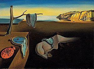 The Persistence of Memory ผลงานของ Salvador Dali (ภาพจาก wikipedia)