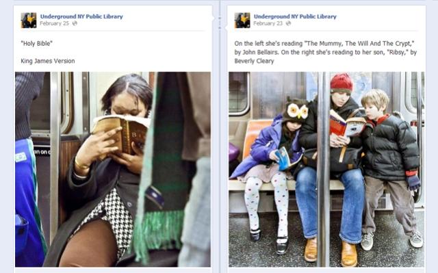 หน้า fan page ของ www.facebook.com/UndergroundNYPLมีภาพคุณแม่อ่านหนังสือให้คุณลูกฟัง น่ารักจริงๆ
