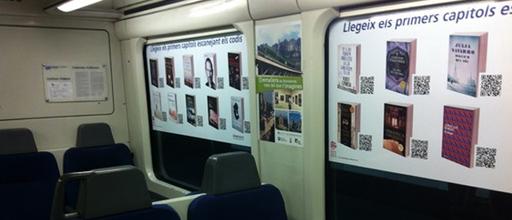 ในรถไฟที่ประเทศสเปน มีหนังสือ สตีป จ็อบส์ ด้วยนะครับ