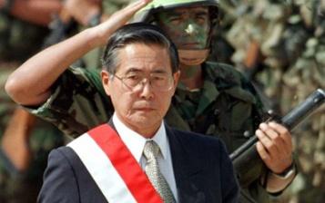 File photo shows former Peruvian president Fujimori in Lima